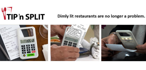 Mothers Day Gift All-in-one handheld device! Tip 'n Split®. Folks over 65 may begin to lose eyesight and have ahard time reading the menu at restaurants, the font is too […]
