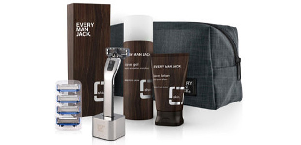 Father's Day Shave Kit Includes: Chrome Razor with Stand and 4 Cartridges, Fragrance-Free Shave Gel, Fragrance-Free Face Lotion and Post-Shave and Complimentary Gray Toiletry Bag www.EveryManJack.com FACEBOOK   INSTAGRAM […]
