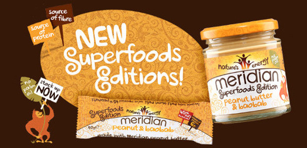 MERIDIAN GOES NUTS ABOUT SUPERFOODS WITH NEW PEANUT BUTTER & BAOBAB www.meridianfoods.co.uk PINTEREST | YOUTUBE | TWITTER | FACEBOOK | INSTAGRAM Meridian Foods, leading producers of delicious nut butters and […]