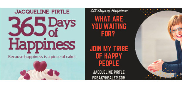 BOOK! Jacqueline Pirtle, 365 Days of Happiness. Because Happiness is a Piece of Cake ! www.freakyhealer.com TWITTER | FACEBOOK | INSTAGRAM | SOUNDCLOUD | YOUTUBE | LINKEDIN Buy at :- www.amazon.com/365-Days-Happiness-Because-happiness […]