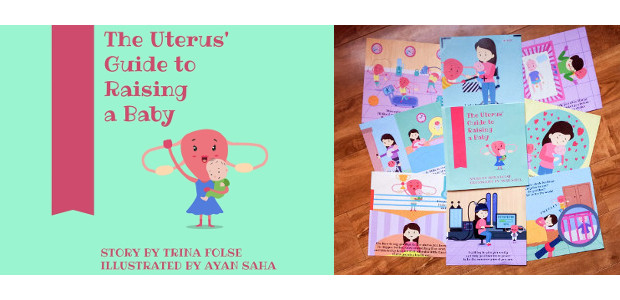 """The Uterus' Guide to Raising a Baby"" by Trina Folse! INSTAGRAM 