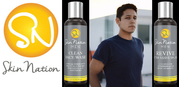 "Skin Nation all natural ""Clean Face Wash for Men"" and ""Revive Aftershave Splash for Men "" available on Amazon & www.skinnation.com. TWITTER 