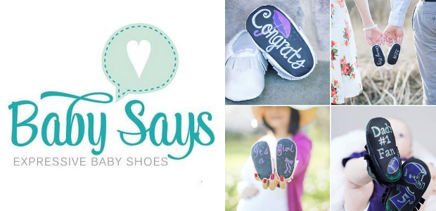 Chalkboard Shoes by Baby Says® are the ultimate gifts for baby showers, pregnancy announcements, gender reveals, new parents, and even decor! www.babysays.com FACEBOOK   TWITTER   PINTEREST   INSTAGRAM Chalkboard […]