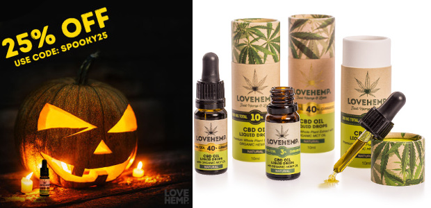 CBD YOUR HALLOWEEN WITH LOVE HEMP www.love-hemp.com FACEBOOK | TWITTER | INSTAGRAM Love Hemp, the UK's leading range of trusted CBD products, is offering 25% off this Halloween. The London […]