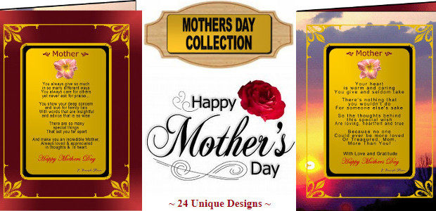 """Send an incredible poetic and gold message this Mother's Day… Lets Tell Mum that She Is Amazing And That We Love Her So Much! www.greetingsongold.com """"The World's Most Elegant Frameable […]"""