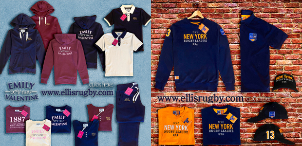THE LADIES VINTAGE RUGBY BRAND & NEW YORK RUGBY LEAGUE from ELLIS RUGBY .www.ellisrugby.com. A Pride In The Jersey Company. The Ellis Rugby Brand – 埃利斯橄榄球品牌 – De Ellis Rugby […]