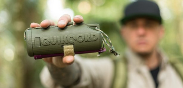 "Quikcord Inc… @Quikcord. Quikcord is a handheld device that carries, cuts, and dispenses paracord; never allowing it to tangle. It also has a ""ready for use"" pre-assembled nighttime signal device. www.quikcord.com […]"