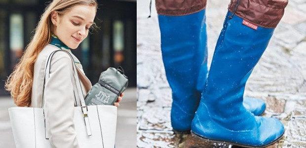 Japanese Rain Boots – www.pokeboo.uk @pokeboo.uk Lightweight & Compact Portable Boots So convenient, mum will want to take them everywhere! GOOD DESIGN AWARD 2018
